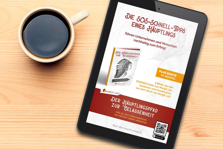 Buchtitel SOS-Schnell-Tipps mit Kaffeetasse